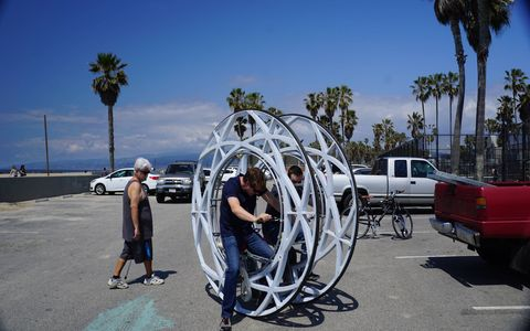 Is this the future of transportation? It could be at Venice Beach...