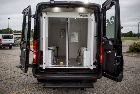 Ford had 35 different vans on display at world headquarters to show off the versatility of the Transit.