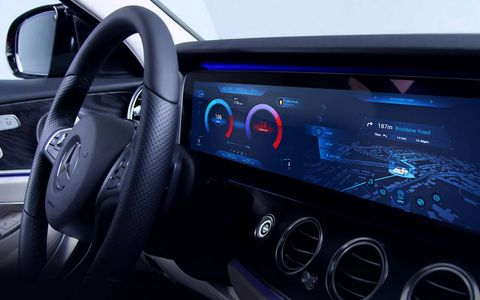 The Mercedes-Benz screen has grown to include almost the entire dashboard.