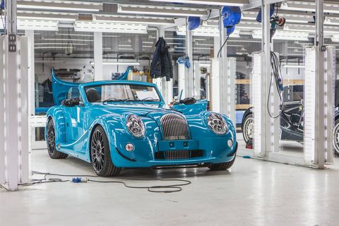 The Morgan Aero GT features a BMW-sourced 4.8-liter V8 making 367 hp and 370 lb-ft, and weighs in at just 2,600 pounds.