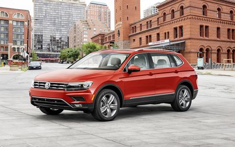 The bigger, 2018 Tiguan premiered on Sunday, one day before the 2017 Detroit auto show, with more cargo space and an extra row of seats.