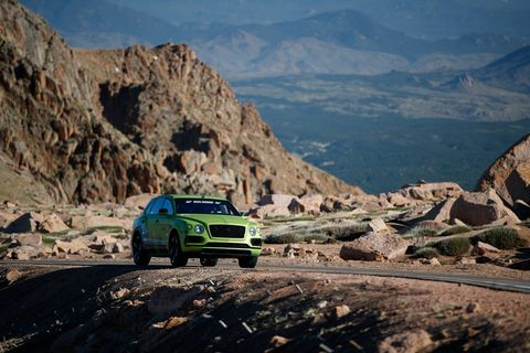 "A W12 Bentley Bentayga described as ""near-production specification"" completed the Pikes Peak hillclimb course in an SUV record 10:49.9."