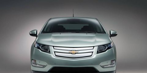 The 2013 Chevrolet Volt is powered by a combination 1.4-liter four-cylinder gas engine and a 111-kW electric motor.