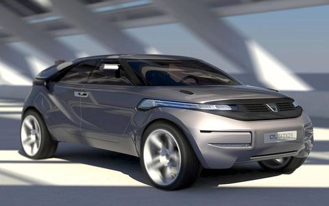 Renault has unveiled a concept for a coupe crossover concept from its Romanian subsidiary, Dacia. Named the Duster, the concept was designed as an image booster for Dacia, which makes the low-cost Logan car.