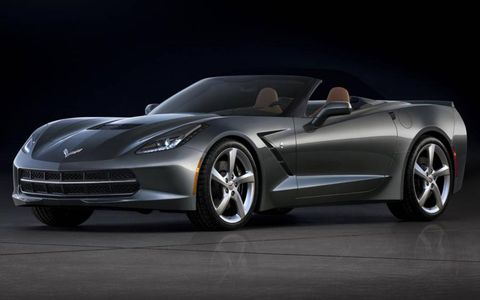 2014 Chevrolet Corvette Stingray convertible with the roof stowed away.