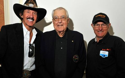 Richard Petty, Carroll Shelby and Don Garlits were together at the Amelia Island Concours in Florida in March 2010.