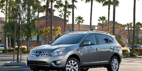 The 2013 Nissan Rogue SV is powered by a 2.5-liter four-cylinder engine making 170 hp and 175 lb-ft of torque.