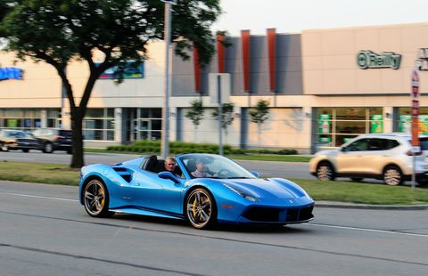 The Ferrari 488 GTB Spider is one of the best cars in the world.