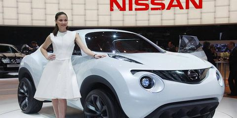 The Nissan Qazana concept is a small SUV that previews a vehicle that will slot beneath the Qashqai in Nissan's European lineup. Nissan says the Qazana's interior is inspired by motorcycles.