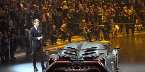 Lamborghini CEO Stephan Winkelmann explains the Veneno.