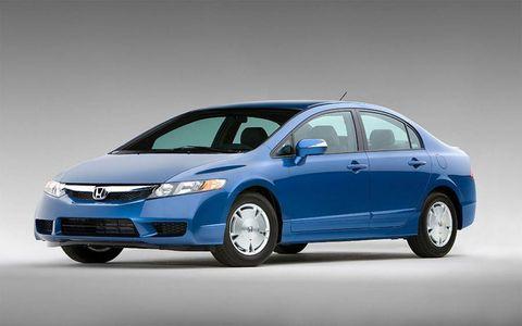 The Honda Civic hybrid