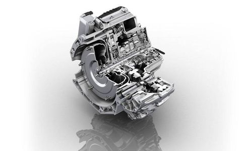 A cutaway rendering shows the innards of the 9HP. ZF says nesting gearsets help the nine-speed remain compact.