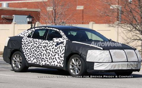 The Lincoln MKS sedan hasn't been on the market all that long, but Ford Motor Co. designers are locking down a freshening, likely for the 2011 model year. The bulk of the changes will happen to the front and rear fascia, and to some interior trim.