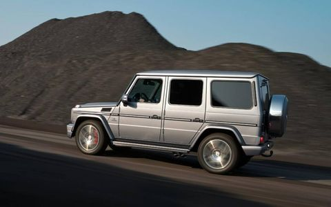 The 2013 Mercedes-Benz G63 AMG's power is sent through a seven-speed automatic transmission to all four wheels.