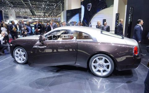 The The Rolls-Royce Wraith gets an eight-speed transmission and gets to 60 mph in 4.4 seconds.