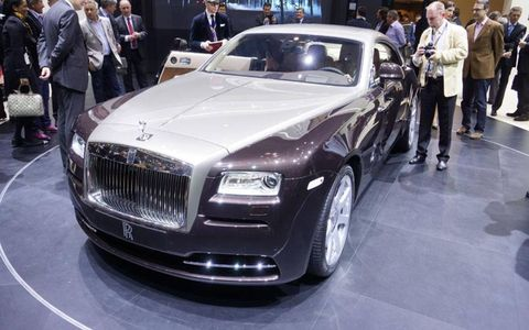 The Rolls-Royce Wraith has a 6.6-liter V12 making 624 hp.