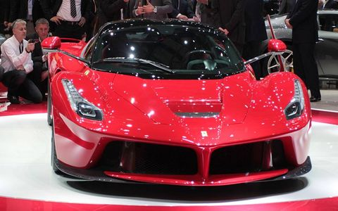 The nose of the Ferrari LaFerrari supercar.