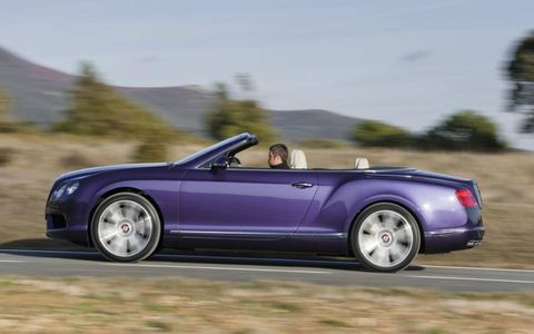 This 2013 Bentley Continental GTC V8 is covered in Violette paint.