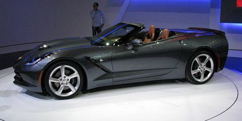 Chevrolet rolled out the 2014 Corvette Stingray convertible at the Geneva motor show.