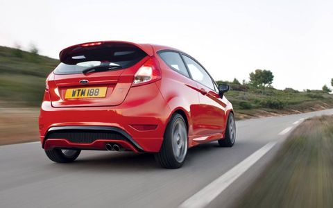 Ford introduced the new Fiesta ST at the Geneva motor show.