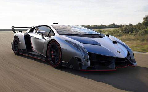 The Veneno is based on the Aventador, though the body is restyled with an even greater emphasis on aerodynamics and downforce.