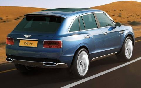Power comes from a 6.0-liter twin-turbo W12 borrowed from the Continental/Flying Spur family; hybrid and diesel powertrains are said to be under consideration.