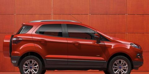 The Ford EcoSport is powered by a 1.0-liter three-cylinder EcoBoost engine.