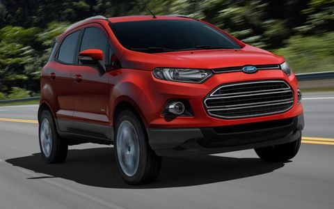 Ford debuted the EcoSport for Europe at the Geneva motor show.