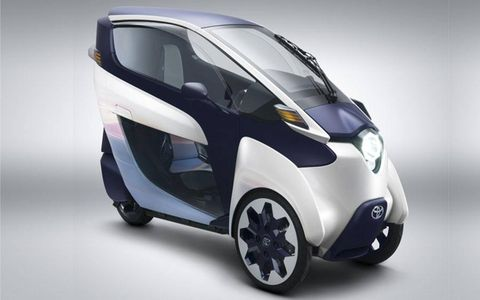 The i-ROAD seems like a fun, practical way to zip through dense urban traffic. Toyota hasn't said anything about production -- yet.