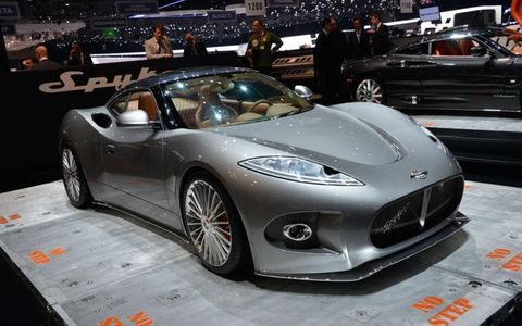 Spyker showed off the B6 Venator concept, which presages a midengine sports car pushing out more than 375 hp.