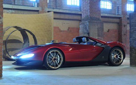 The Pininfarina Sergio is based on the Ferrari 458 Spider.