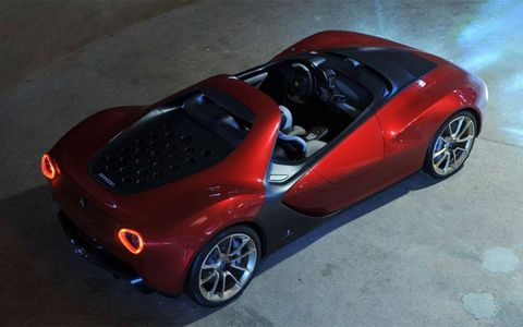 The Pininfarina Sergio spent hours in the wind tunnel in Italy.