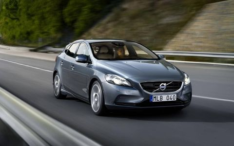 Volvo debuted the V40 hatchback at the Geneva motor show in March.