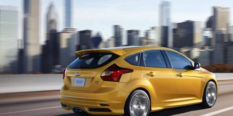 Offered at the base price of $24,495, the 2013 Ford Focus ST is a bargain.