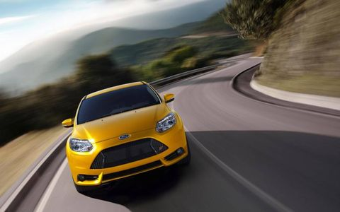 The 2013 Ford Focus ST is capable of 26 mpg combined fuel economy.