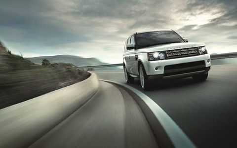 The 2013 Range Rover Sport Supercharged offers a spacious interior with ample cargo capacity.