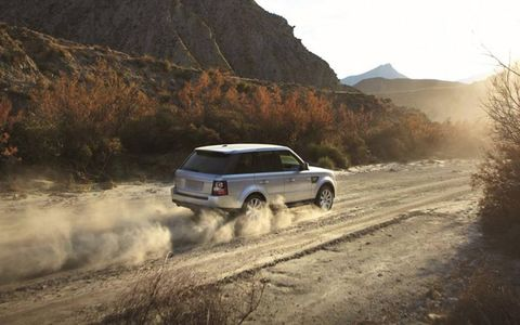 The 2013 Range Rover Sport Supercharged is equipped with a 5.0-liter supercharged V8.