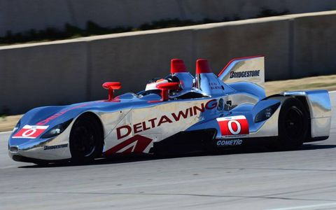 Johnny O'Connell and Andy Meyrick shook down the DeltaWing on Friday at Road Atlanta.