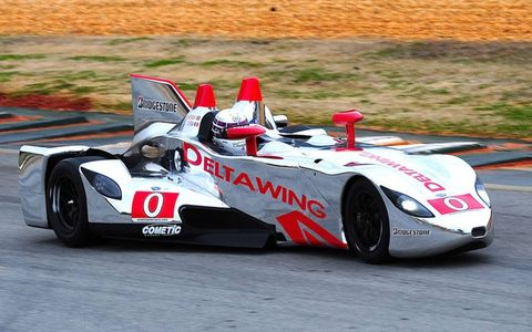 The DeltaWing at Road Atlanta on March 8.