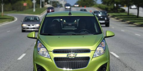 The 2013 Chevrolet Spark is no Geo Metro.