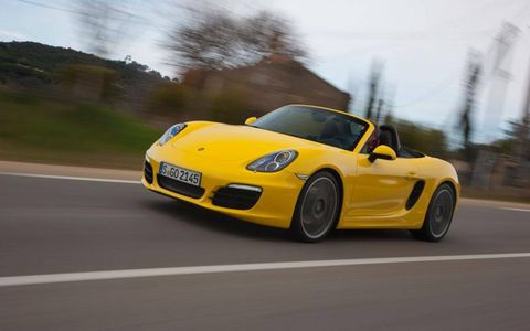To our eyes the only questionable styling feature of the 2013 Porsche Boxster S is the ugly black plastic insert used in the side air vents. Otherwise, it is a convincing and cohesive-looking car, one that no longer relies on 911 cues to announce its pedigree.