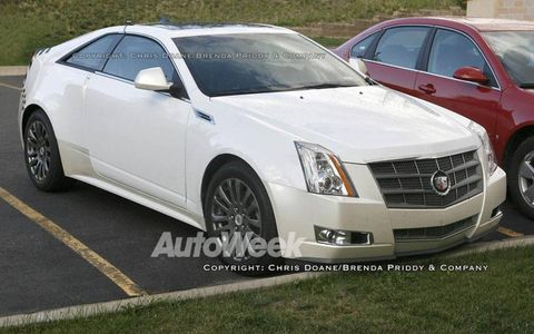 Spied: 2010 Cadillac CTS coupe