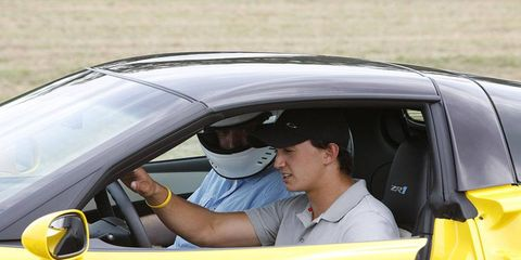 Graham Rahal drives the Corvette ZR1.