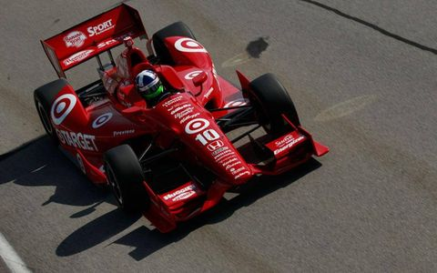 Three-time champ Dario Franchitti had some success Friday while testing in Sebring.