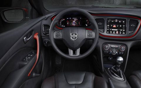 The 2013 Dodge Dart Limited is available with a six-speed manual transmission.