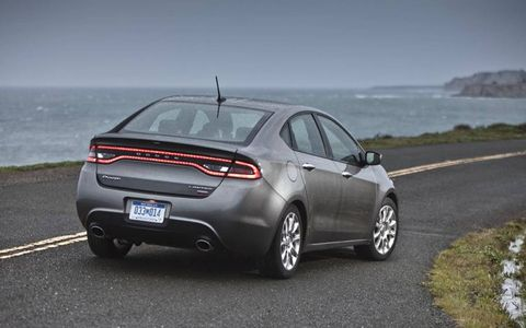 The 2013 Dodge Dart Limited is equipped with a 1.4-liter turbocharged engine producing 160 horsepower.