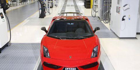A Lamborghini Gallardo was one of the options at Walt Disney's Exotic Driving Experience. You can also drive a Porsche, Ferrari, Nissan or Audi.
