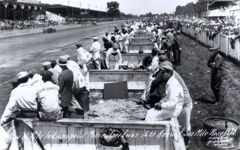 1928: View of The Pits Indianapolis Motor Speedway