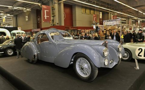 A 1938 Bugatti Type 57S Atlantic.