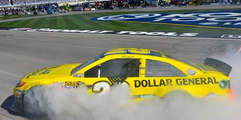 Matt Kenseth celebrated a Sprint Cup Series win on his birthday on Sunday in Las Vegas.
